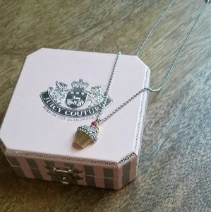 Juicy Couture Jeweled Cupcake Necklace